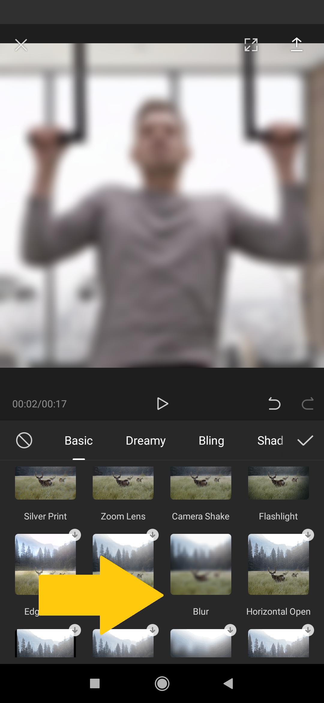 efek blur di capcut