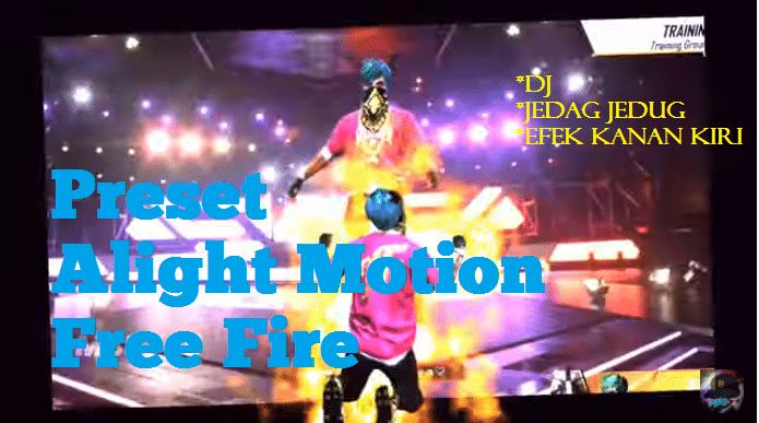 download preset alight motion free fire ff