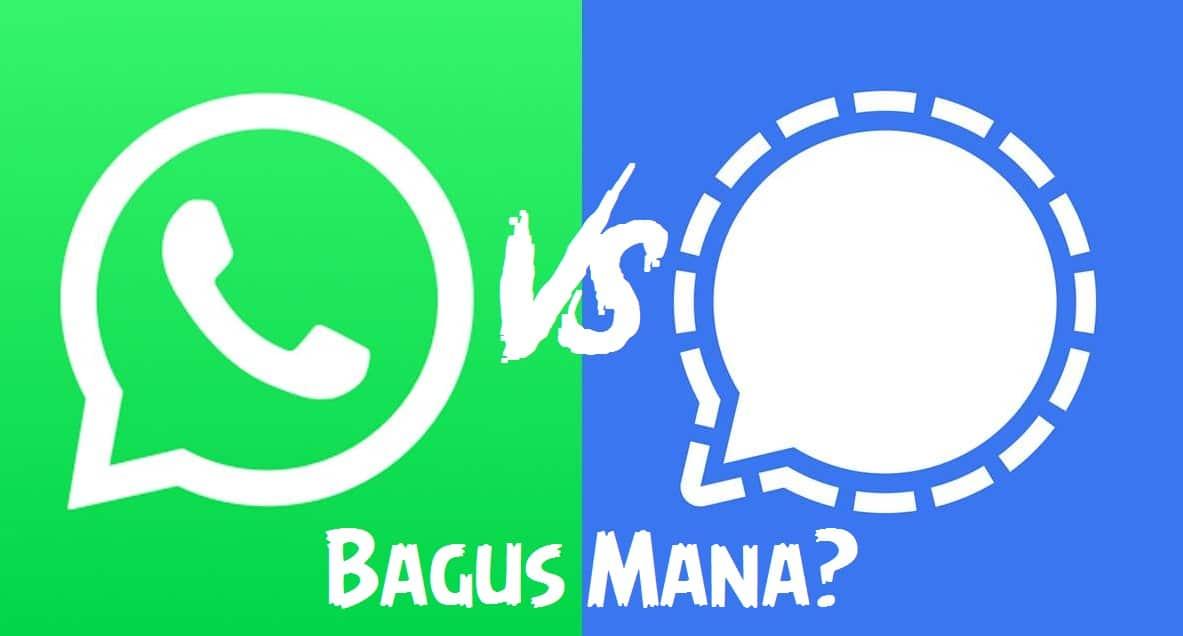 Signal App Vs Whatsapp bagus mana