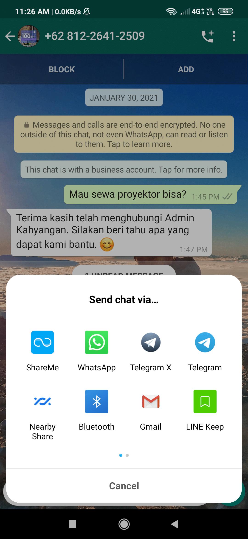 cara export chat whatsapp