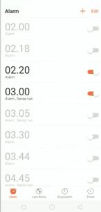 cara mengatur alarm oppo
