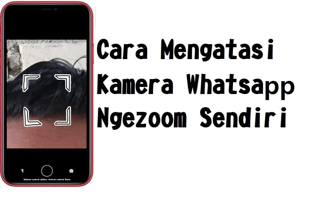 Cara Mengatasi Kamera Whatsaoo Ngezoom Sendiri