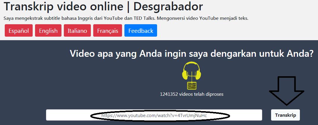 cara meringkas video di youtube menjadi teks