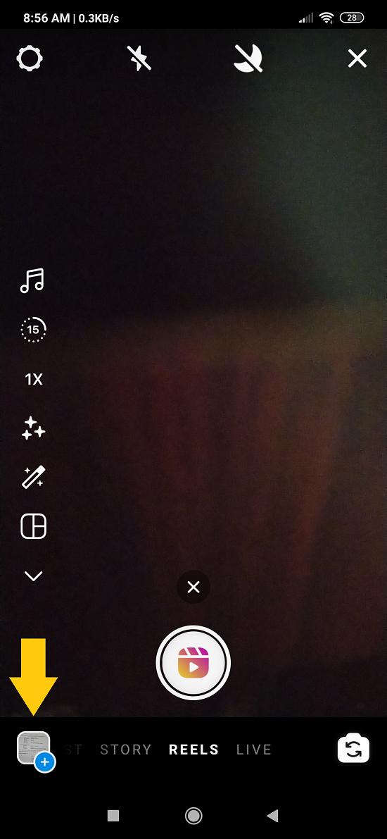 cara menambahkan foto di reels dari galeri